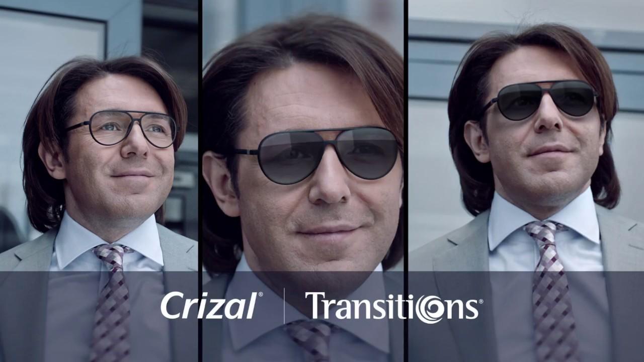 Удобные линзы для очков Crizal Transitions!